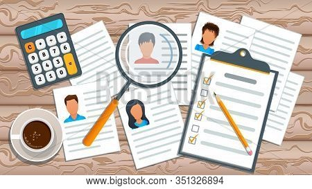 Concept Of Recruitment Service. Human Resources Management. Job Search. Employment Process. Recruitm