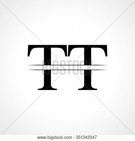 Initial Letter TT Logo Design Vector Template. Linked Typography TT Letter Logo Design