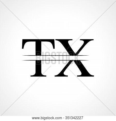 Initial Letter TX Logo Design Vector Template. Linked Typography TX Letter Logo Design