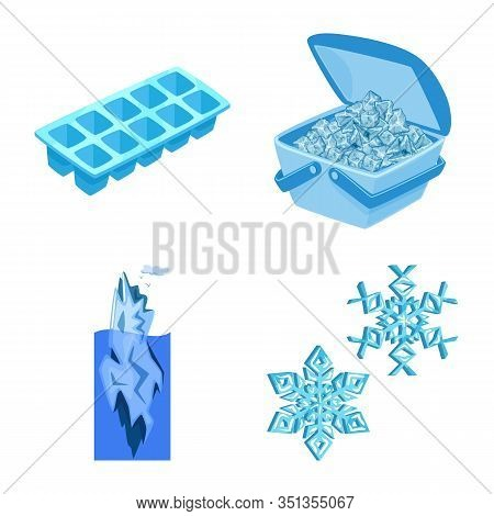 Isolated Object Of Frost And Water Logo. Set Of Frost And Wet Stock Vector Illustration.
