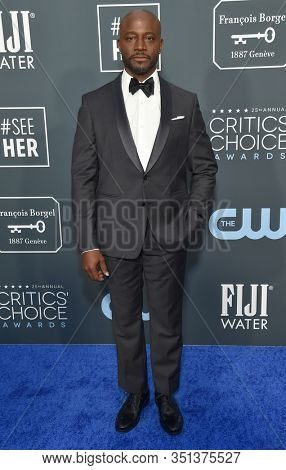 LOS ANGELES - JAN 12:  Taye Diggs arrives for the 25th Annual Critics' Choice Awards on January 12, 2020 in Santa Monica, CA