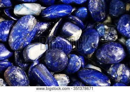 Lapis Lazuli Minerals Texture As Nice Natural Background