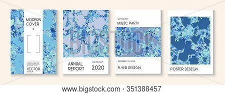 Geographic Map Fluid Paint Vector Cover. Scientific Journal, Grunge Book Page Template. Water Ecolog