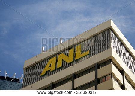 Brisbane, Queensland, Australia - 26th January 2020 : Anl (australian National Line) Sign Hanging On