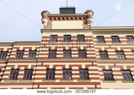 Leipzig Industrial City In Saxony, Germany. Plagwitz Former Industrial Area - Repurposed Brick Facto