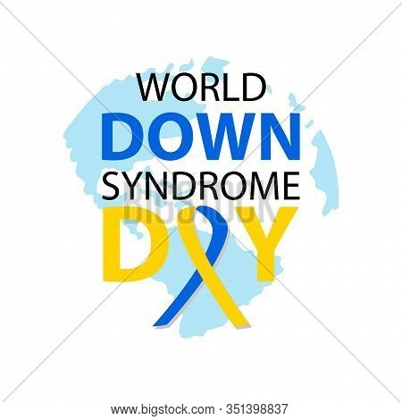 World Down Syndrome Day Poster Concept. March 21. White Background.