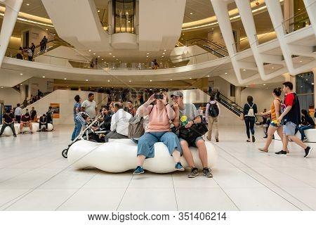 New York City, Usa - June 7, 2019: Westfield World Trade Center, Shopping Center At World Trade Cent