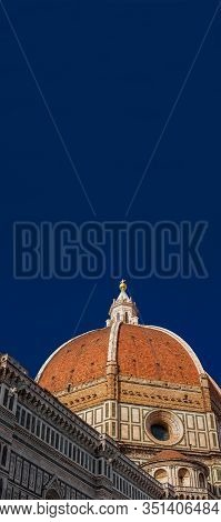 St Mary Of The Flower Iconic Dome In Florence Seen From Below, Built By Italian Architect Brunellesc