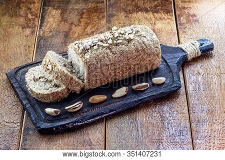 Chestnut Bread From Brazil, Totally Vegan And Organic. Brazil Nuts Are Called