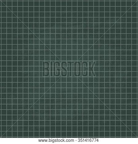 School Horizontal Chalkboard Vector Green Background. Blackboard Texture Illustration.