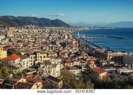 View of a Salerno city, Italy