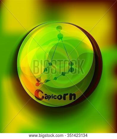 Magic Crystal Ball, Green Light, Electric Discharges And Lightning, Mystical Illustration, Earth Ele