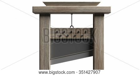 Guillotine Isolated Against White Background. 3D Illustration