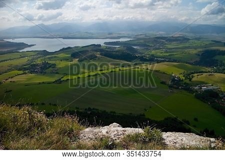 View From Cerenova Rock From West Tatras To Liptovska Mara Dam.