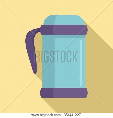 Vacuum Insulated Bottle Icon. Flat Illustration Of Vacuum Insulated Bottle Vector Icon For Web Desig