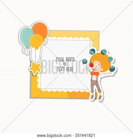 Cartoon Art Styles. Decorative Party Vector Template Frames. These Photo Frames You Can Use For Kids