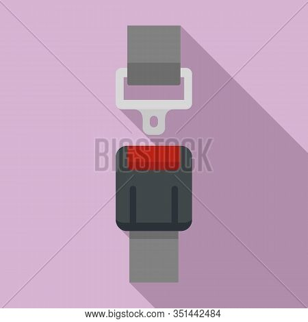 Safety Seatbelt Icon. Flat Illustration Of Safety Seatbelt Vector Icon For Web Design
