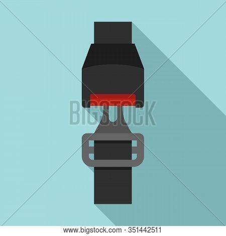 Car Seatbelt Icon. Flat Illustration Of Car Seatbelt Vector Icon For Web Design