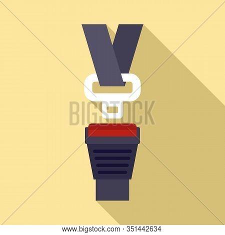 Insurance Seatbelt Icon. Flat Illustration Of Insurance Seatbelt Vector Icon For Web Design