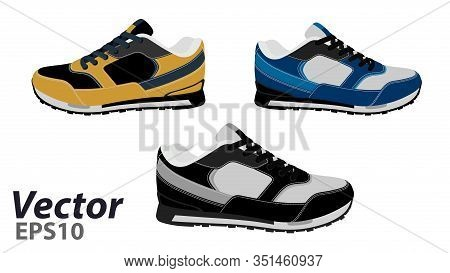 Sneakers Vector Eps 10.the Logo Of The Sneaker In The Vector.