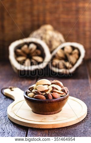 Brazil Nuts, Export Product From The Amazon. Brazil Nuts Are Called