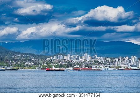 Vancouver - May 05 2019: Downtown Vancouver, Canada.view Of Downtown Vancouver, Skyline Of Vancouver