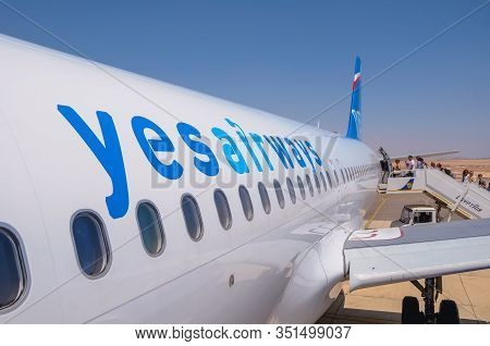 Sinai Plateau, Egypt - August 15, 2011: Plane Of Former Polish Yes Airways - Olt Express Poland In T