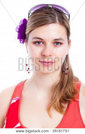 Summer Fashion Woman Face