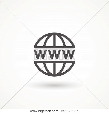 Go To Web Icon In Trendy Isolated On White Background. Website Pictogram. Internet Symbol For Your W