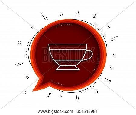 Dry Cappuccino Coffee Icon. Chat Bubble With Shadow. Hot Drink Sign. Beverage Symbol. Thin Line Dry