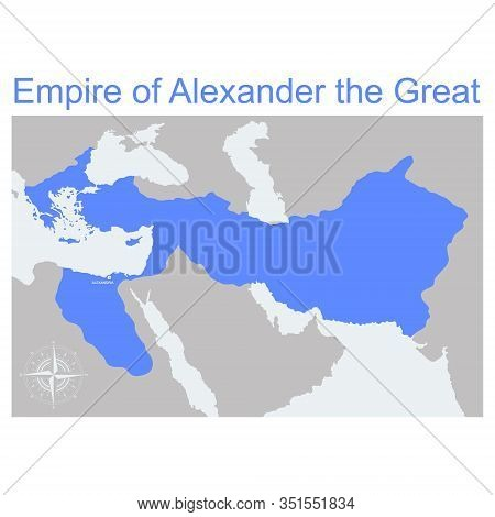 Vector Map Of The Empire Of Alexander The Great