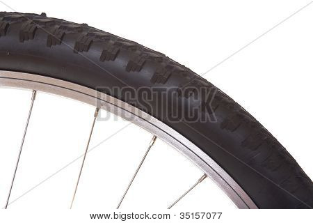 Mountain bike tire isolated on white background poster