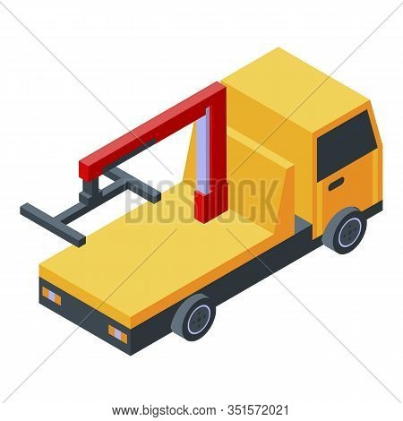 Emergency Tow Truck Icon. Isometric Of Emergency Tow Truck Vector Icon For Web Design Isolated On Wh