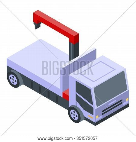 Tow Truck Service Icon. Isometric Of Tow Truck Service Vector Icon For Web Design Isolated On White