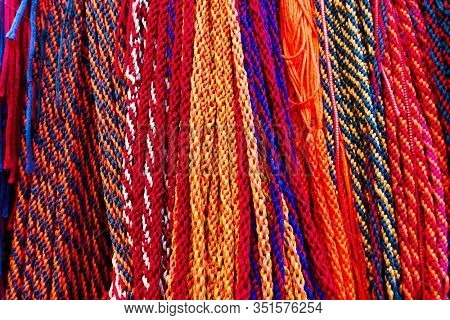Indian laces of different colours -  Multicoloured ethnic background