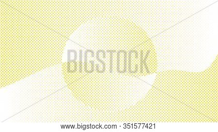 Modern Halftone Yellow Background. Design Decoration Concept For Web Layout, Poster, Banner. Abstrac