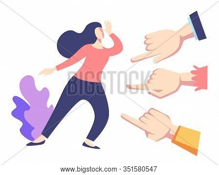 Public Disapproval, Woman And Fingers Pointing, Feminism Discrimination