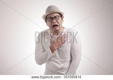 Funny Asian Man Crying