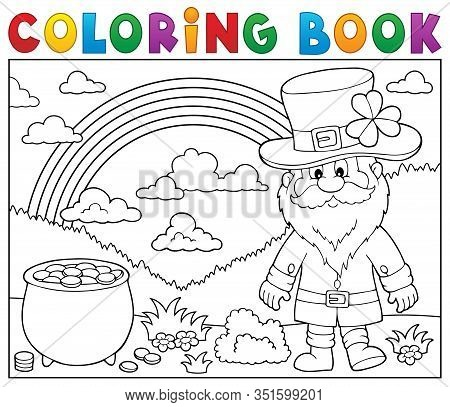 Coloring Book St Patricks Day Theme 3 - Eps10 Vector Picture Illustration.