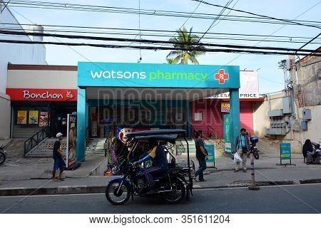 Rizal, Ph - Nov. 30: Watsons Pharmacy Facade On November 30, 2019 In Antipolo, Rizal, Philippines.