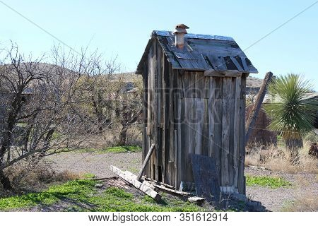 An Old Abandoned Outhouse Farm Shed Shack
