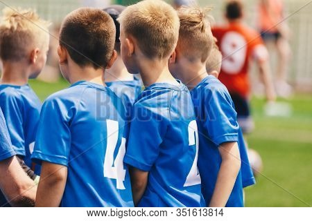 Kids Play Sports. Children Sports Team United Ready To Play Game. Children Team Sport. Youth Sports