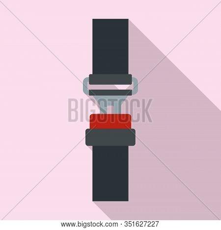Crash Seatbelt Icon. Flat Illustration Of Crash Seatbelt Vector Icon For Web Design