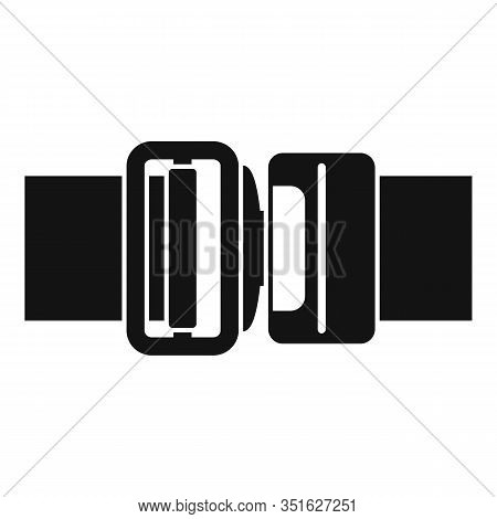 Seatbelt Icon. Simple Illustration Of Seatbelt Vector Icon For Web Design Isolated On White Backgrou