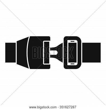Car Seatbelt Icon. Simple Illustration Of Car Seatbelt Vector Icon For Web Design Isolated On White