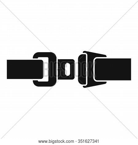 Drive Seatbelt Icon. Simple Illustration Of Drive Seatbelt Vector Icon For Web Design Isolated On Wh