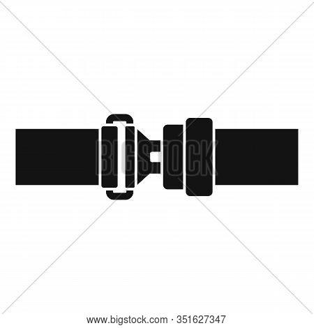 Crash Seatbelt Icon. Simple Illustration Of Crash Seatbelt Vector Icon For Web Design Isolated On Wh