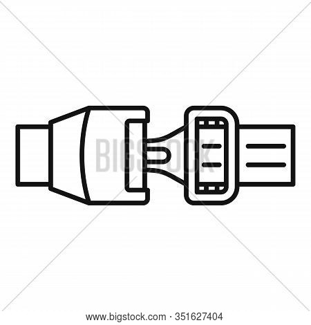 Auto Seatbelt Icon. Outline Auto Seatbelt Vector Icon For Web Design Isolated On White Background