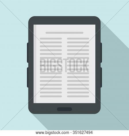 Paper Ebook Icon. Flat Illustration Of Paper Ebook Vector Icon For Web Design