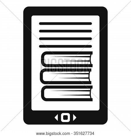 Ebook Icon. Simple Illustration Of Ebook Vector Icon For Web Design Isolated On White Background